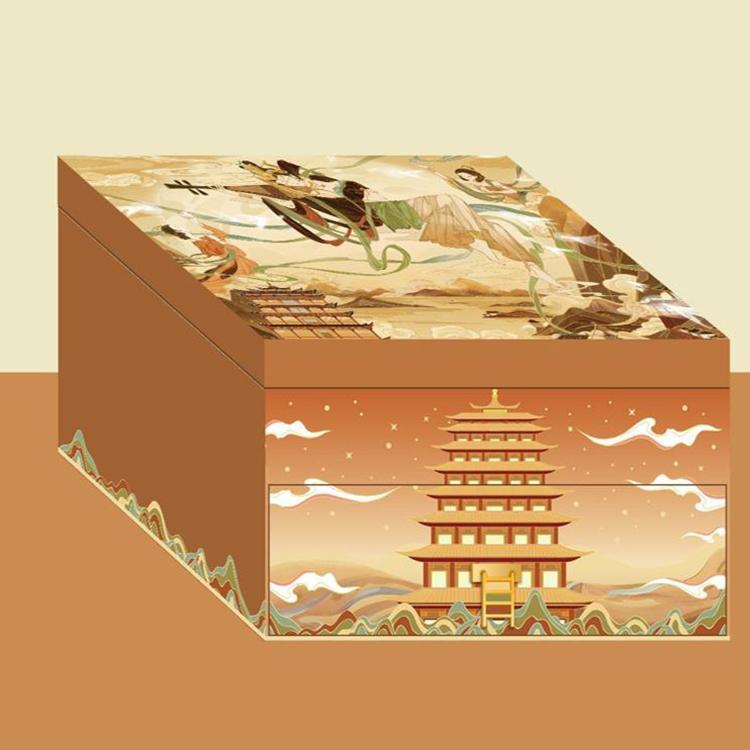 【赞马】中秋月饼文创礼盒手账本香插挂坠月饼礼盒