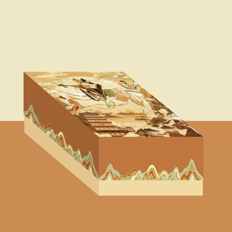 【赞马】中秋月饼文创礼盒基础款月饼日历架丝绒收纳袋