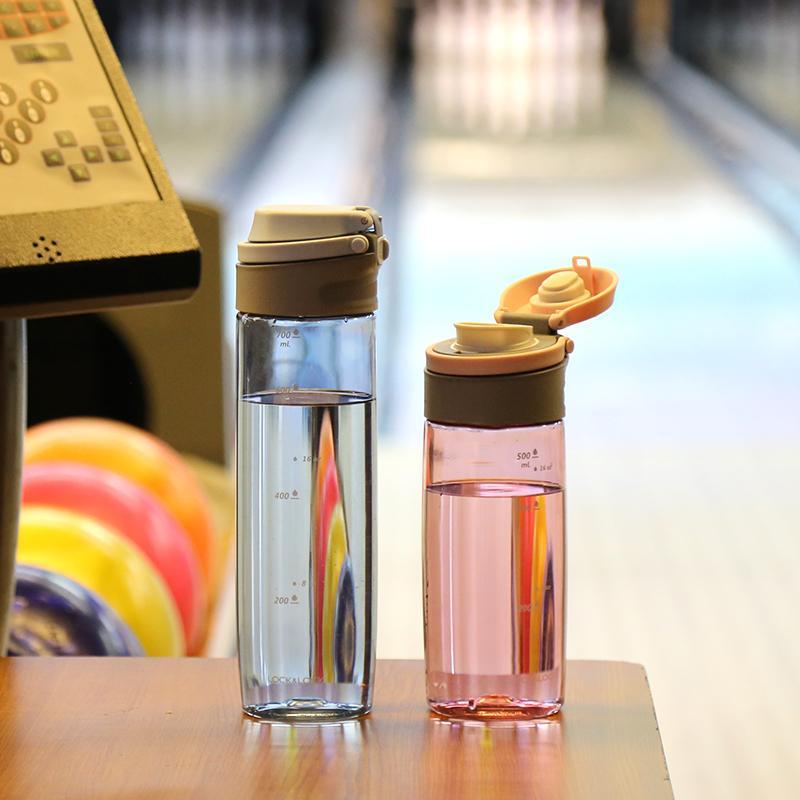 【乐扣乐扣】塑料杯一键式运动水杯塑料水杯茶杯男女学生杯子 ABF762/ABF763BLU/PIK