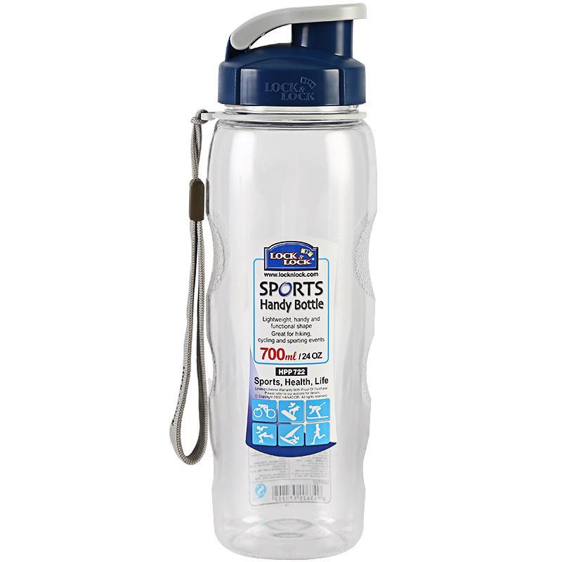 【乐扣乐扣】便携式大容量防漏塑料运动水杯塑料壶700ML透明 HPP722 经典款