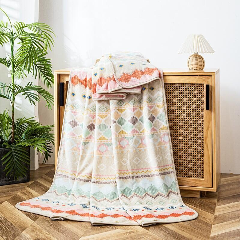 【金丝莉】胶原蛋白美肤毯家居午睡毯子180x200cmJT-1159