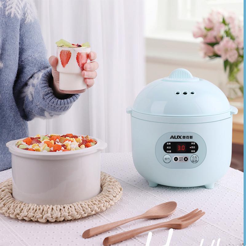 【奥克斯】电炖锅家用婴儿辅食隔水炖锅陶瓷预约定时煮粥电炖盅VK-161D4