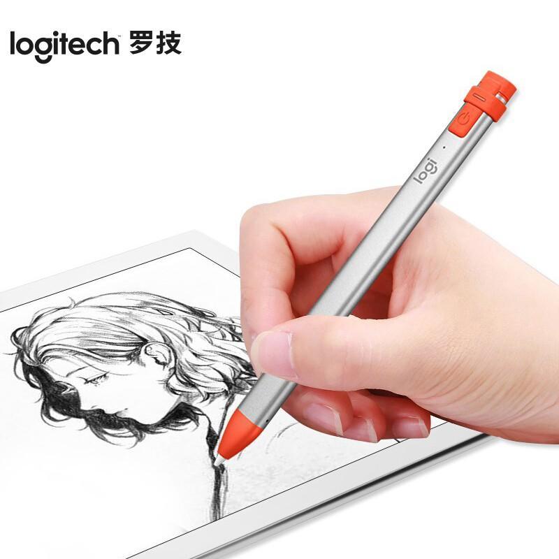 【罗技】手写触控笔pencil手写笔iPad平板笔 ip10数字笔 平板绘画笔 Crayon