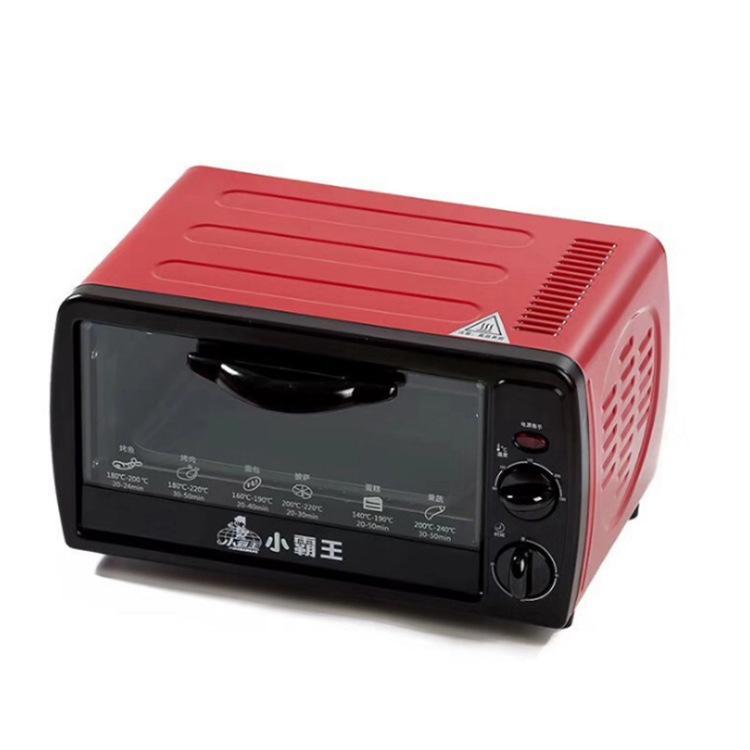 小霸王烤箱家用烘焙小烤箱12L电烤箱