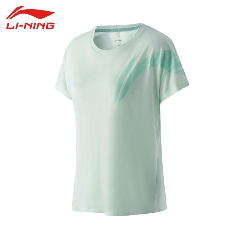 【李宁】短袖女装T恤2021健身训练系列圆领速干凉爽宽松短袖T恤ATSR022-1-2-3