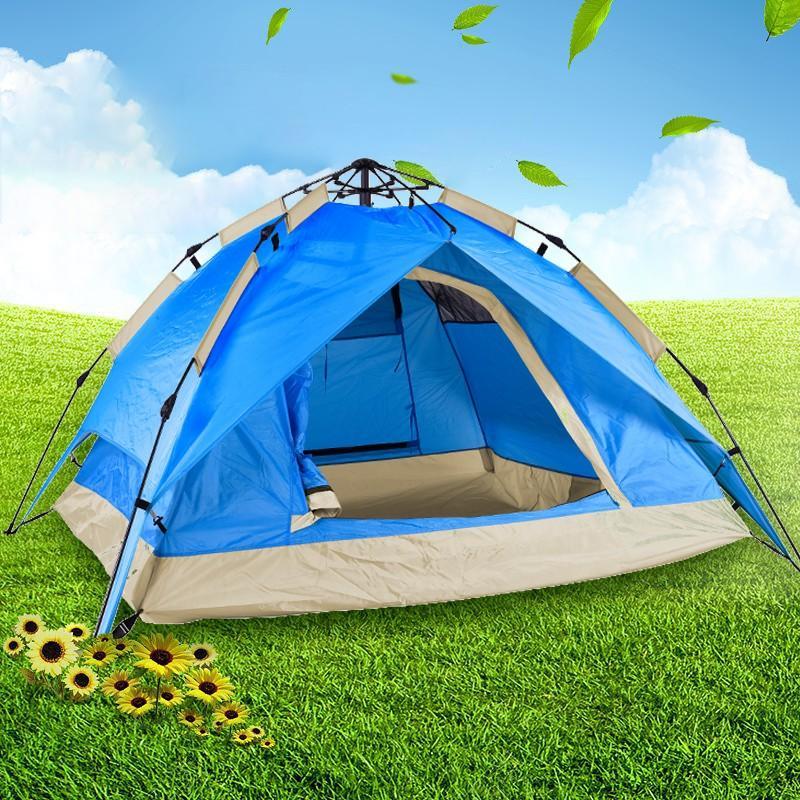 【纵贯线】户外双人帐篷2-4人全自动速开双层帐篷双门通风全自动双人双层帐篷ZP-11A