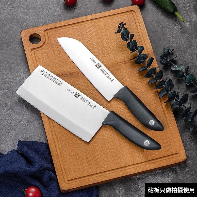 【双立人】刀具套装德国刀具实用套组Point S银点不锈钢菜刀2件套中片刀多用刀32874-002
