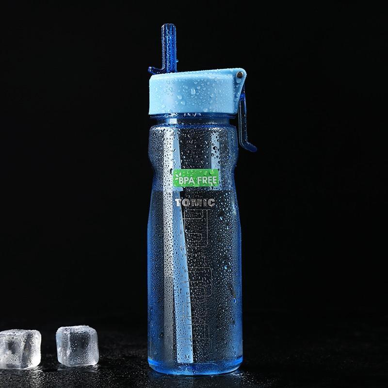 【特美刻】塑料杯Tritan材质运动水杯带吸管运动水杯大容量健身水杯660ml TAL1017