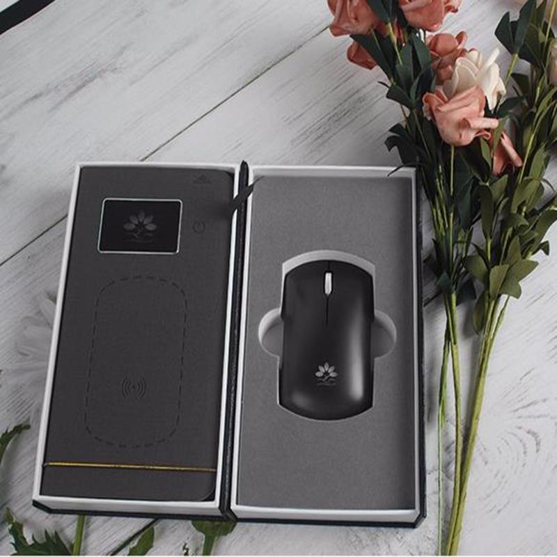【咪依度】双模无线蓝牙鼠标鼠标垫套装手机鼠标充电二合一创意无线充鼠标垫礼品套装