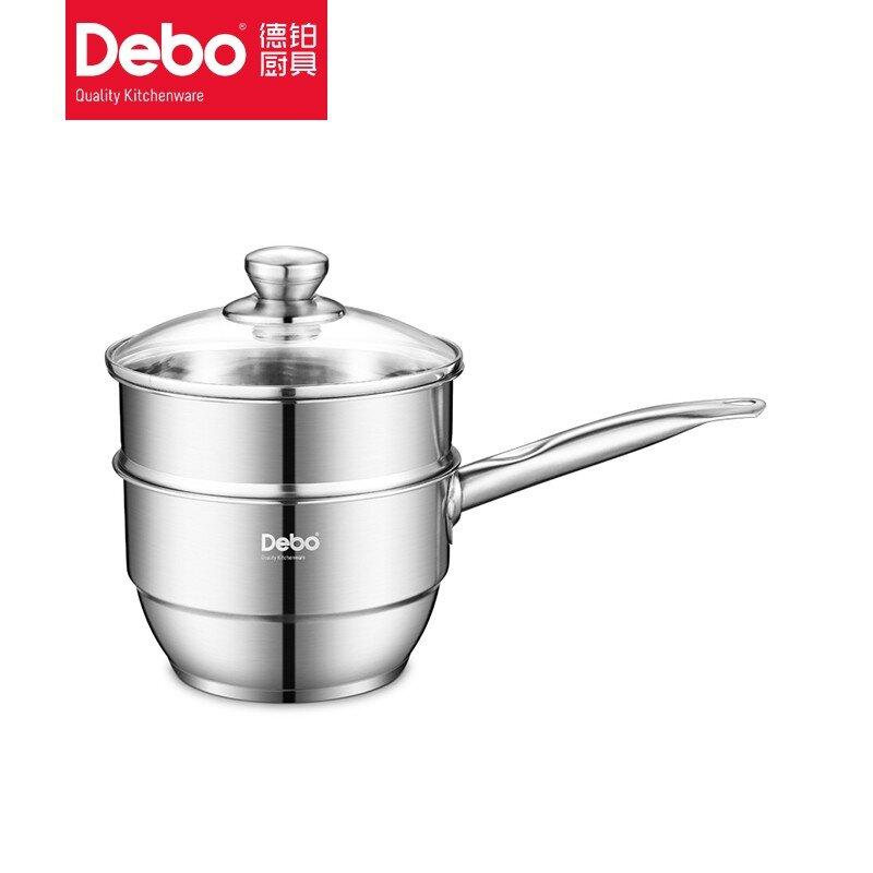 【德铂】Debo卡贝尔奶锅不锈钢小汤锅奶锅煮热牛奶锅电磁炉锅DEP-506