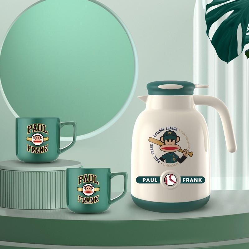 【大嘴猴】真空保温杯按压式玻璃内胆开水瓶保温壶马克杯套装 PFC781T