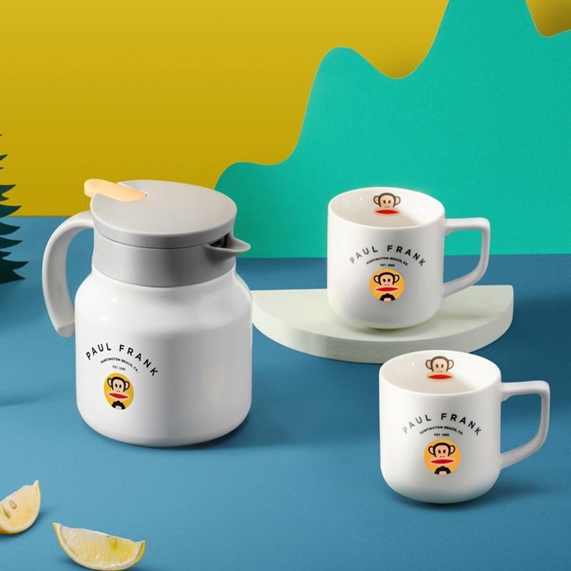 【大嘴猴】真空保温壶按压式奥氏体型不锈钢开水瓶咖啡壶套装 PFC779T