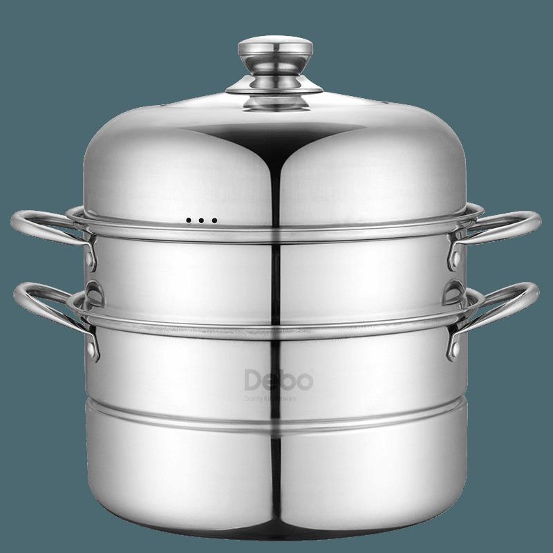 【德铂】Debo奥格斯堡不锈钢多用双层蒸汤锅单底DEP-285