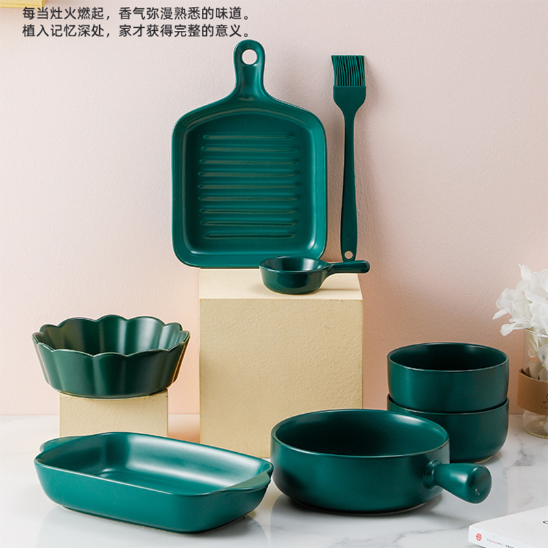 色釉烘培大套装盒装套装陶瓷餐具
