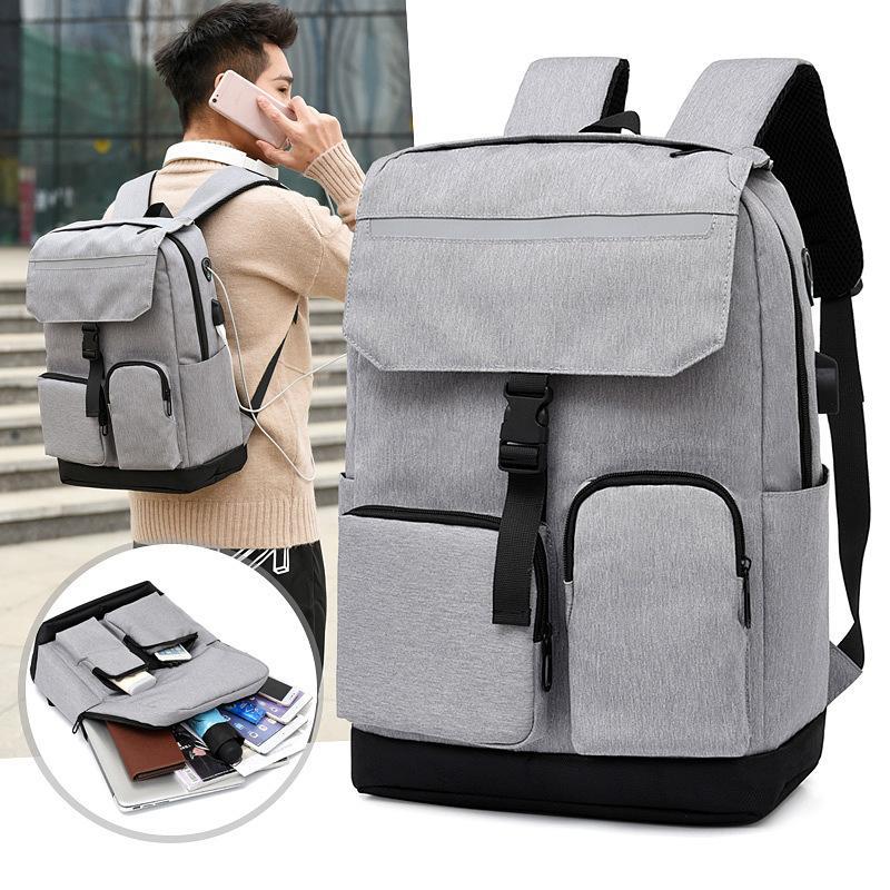 休闲双肩包商务多隔层背包电脑背包大容量学生书包M8080