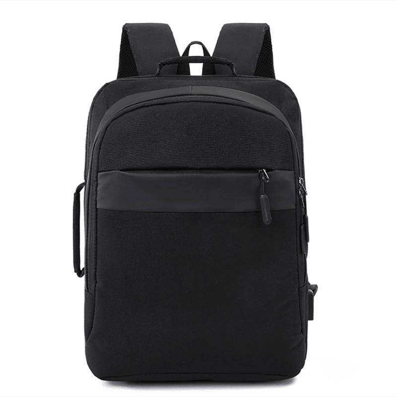 双肩电脑包纯色背包耐磨双肩包大容量学生书包M8083