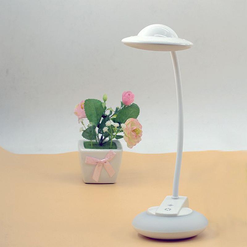 飞碟LED护眼台灯创意七彩USB充电触摸小夜灯LT-A2060