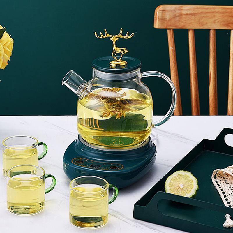 1.2L智能玻璃养生水壶透明玻璃水壶煮花茶壶迷你煮茶器DA-045-6