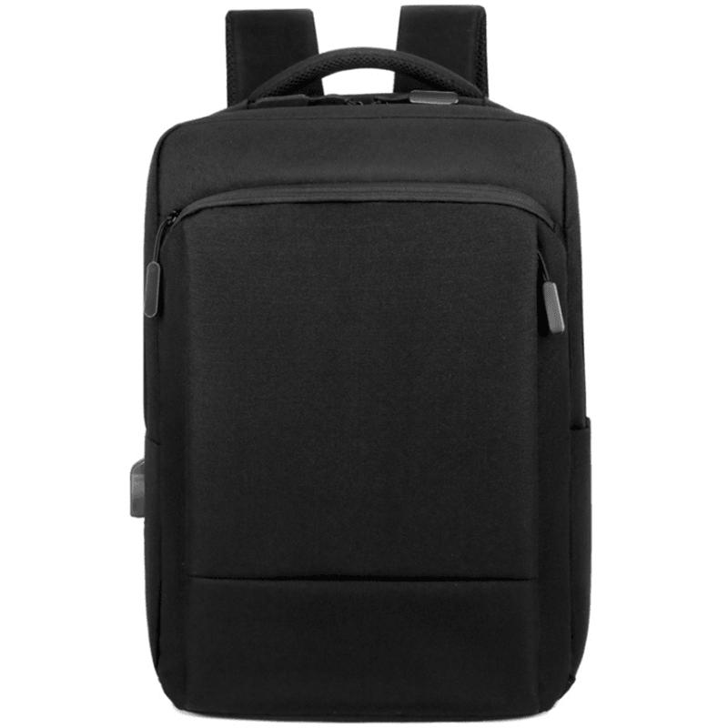 商务休闲双肩包防泼水电脑包大容量USB充电背包M8086