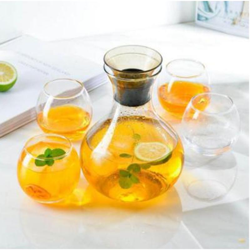 帕卡水具玻璃冷水壶泡茶壶茶具水具五件套/七件套