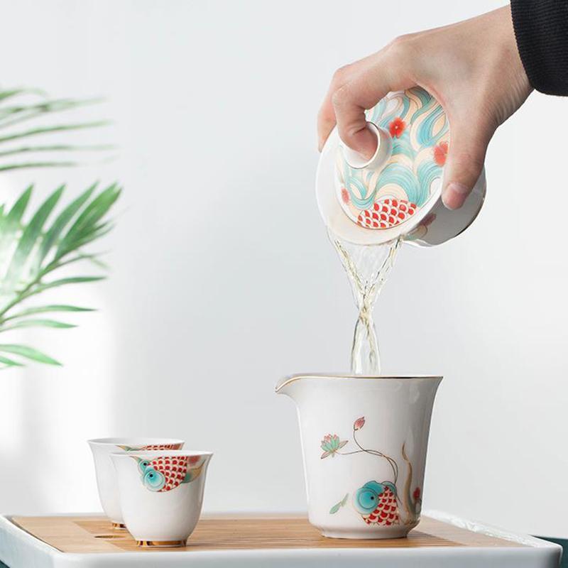 锦秀人生茶具套装茶具家用泡茶碗功夫茶具泡茶碗