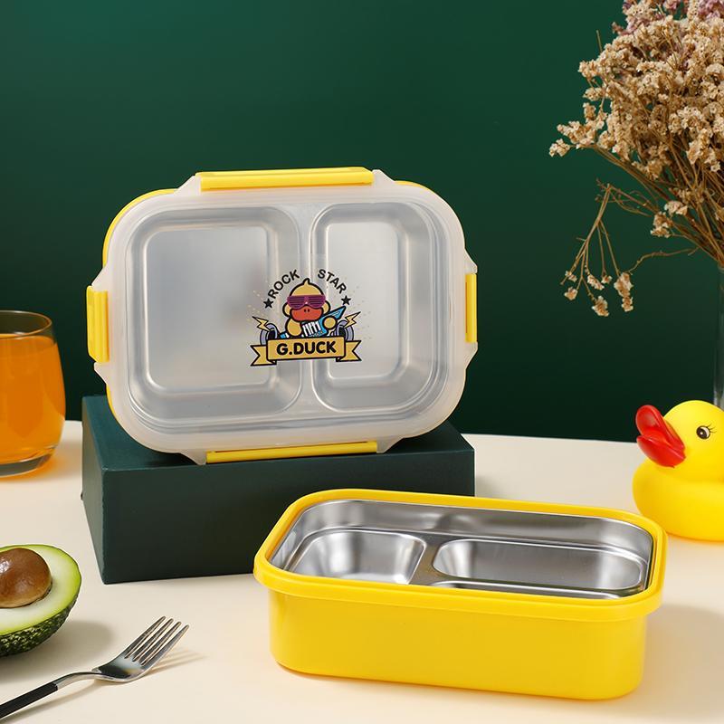 小黄鸭精致餐盒分格餐具XHY0022