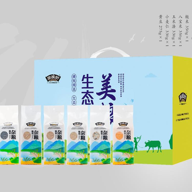 【徽粮坊】生态美粮礼盒五谷杂粮煮粥代餐大米伴侣节日礼品盒
