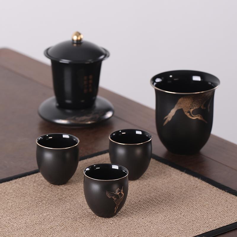 【清朴堂】雅师集名茶大师茶叙套装普洱简茶器