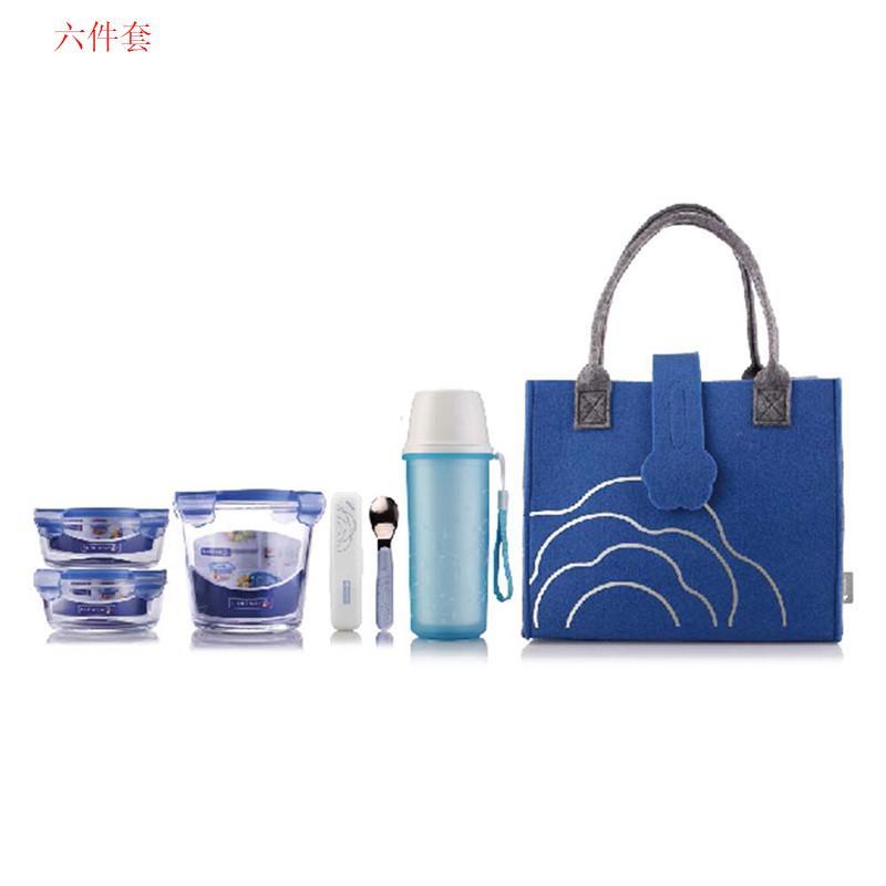 【乐美雅】uminarc 保鲜盒餐具筷子凡尔赛六件套LC-S2611/八件套LC-S2812