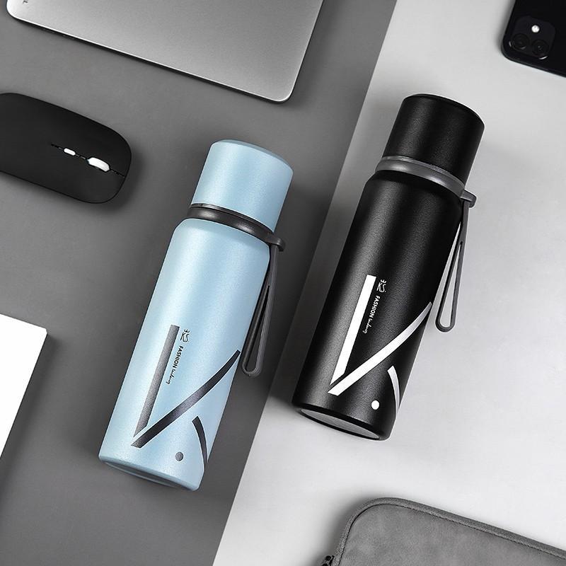 【K.S.】轩扬便携保温杯户外500ml大容量保温保冷硅胶单独保温杯KS-680