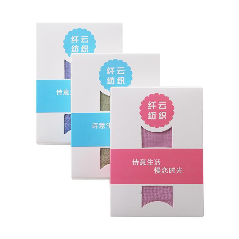 爱竹人单条纱布巾(磨砂袋/纸盒装)竹浆竹纤维毛巾家用柔软面巾AZR-001