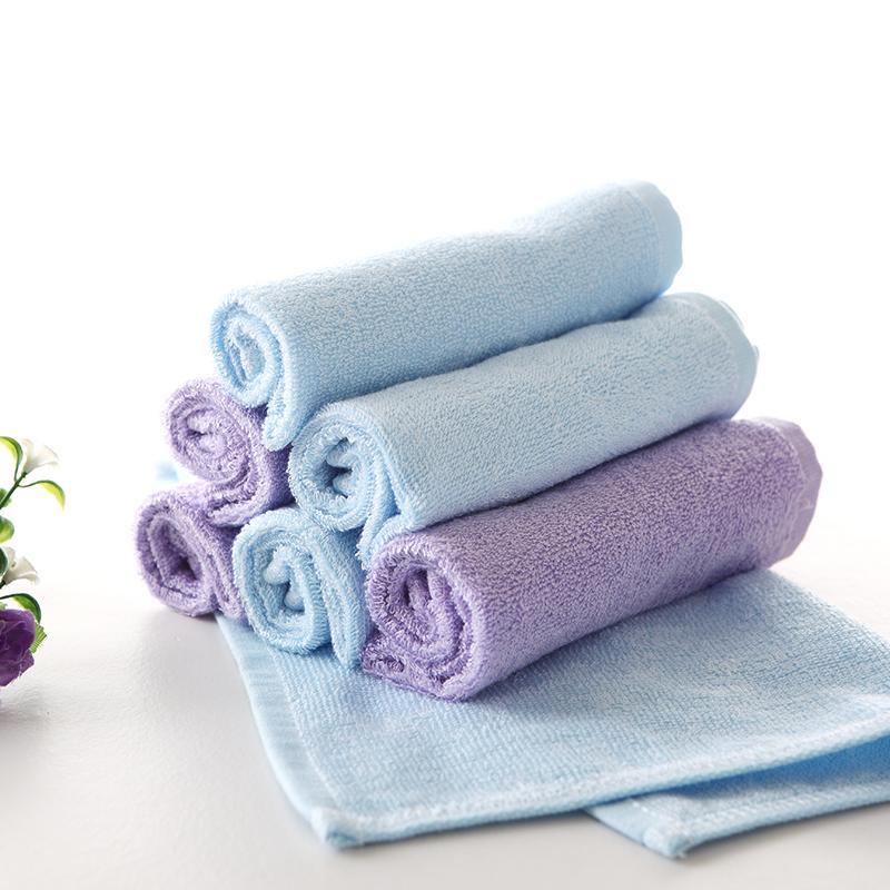 爱竹人竹棉方巾2条装竹浆竹纤维毛巾家用柔软面巾AZR-007