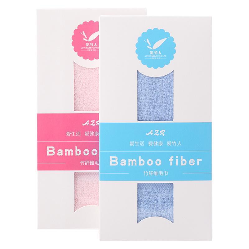 爱竹人单条条缎毛巾(软盒)竹浆竹纤维毛巾家用柔软面巾AZR-010
