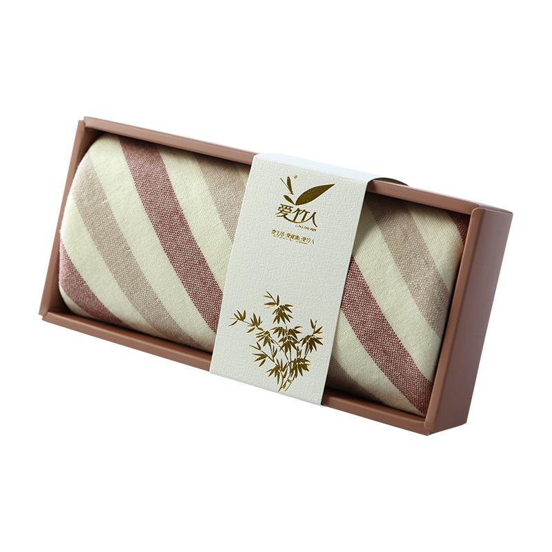 爱竹人豆沙透明盒9竹浆竹纤维毛巾家用柔软面巾AZR-015