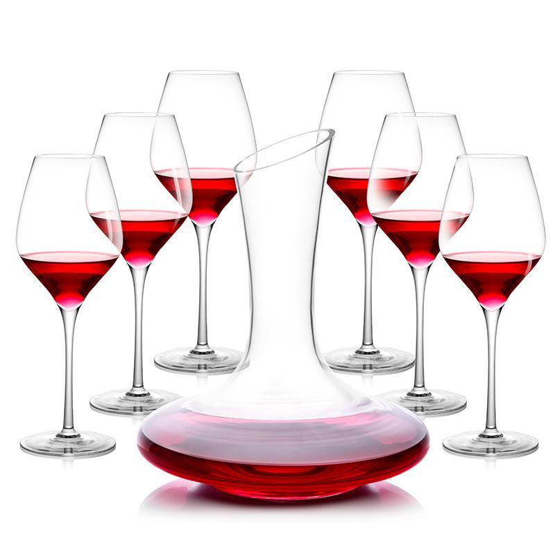 【绿珠】全家福红酒杯组合套装开瓶器醒酒器Q751