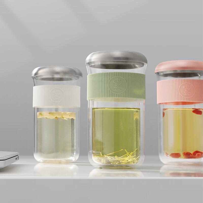 【鸣盏】水杯玻璃泡茶杯养生壶煮茶器玻璃简约保温杯MZ-8002