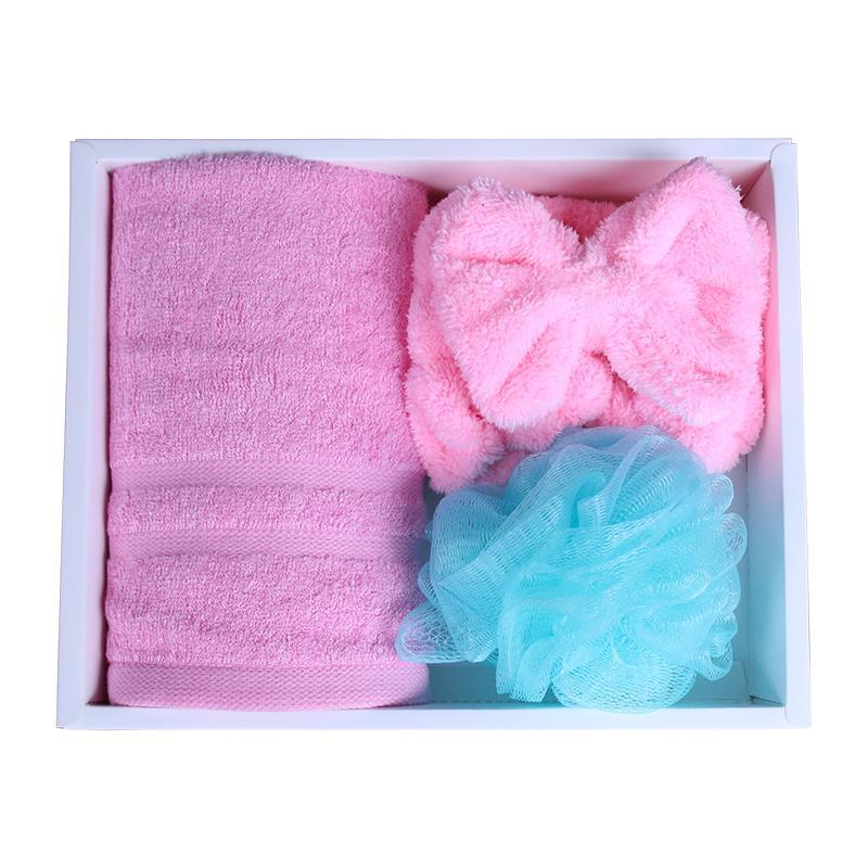 【爱竹人】自配卫浴三件套竹浆竹纤维毛巾家用柔软面巾浴室套件组合AZR-040