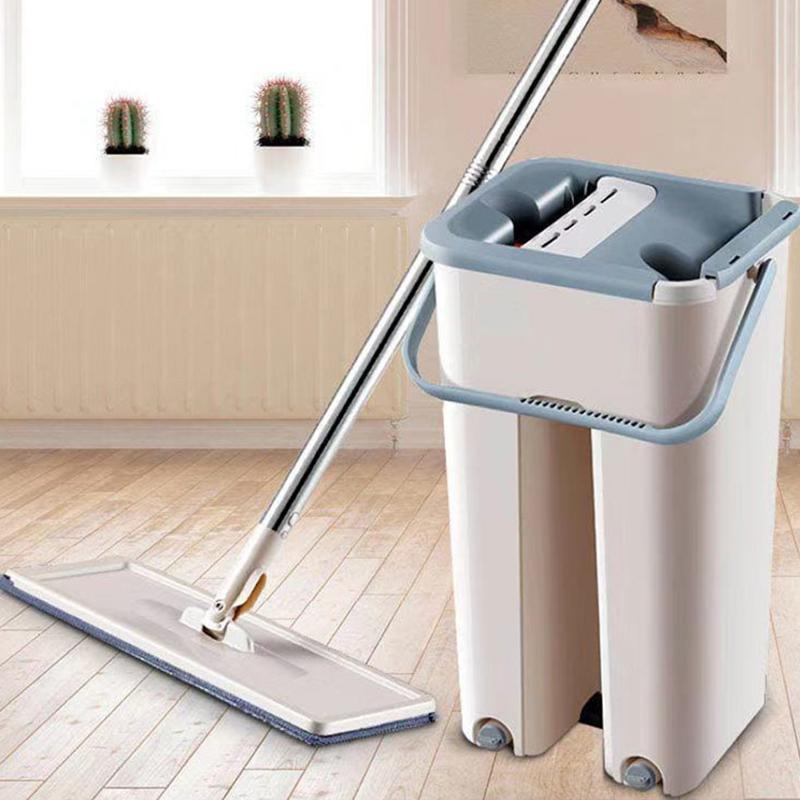 懒人拖把平板拖把免手洗家用拖把拖布桶套装