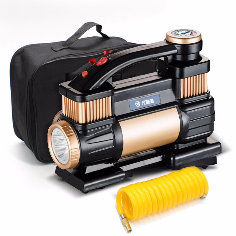 【尤利特】 车载充气泵双缸轮胎电动小轿车便携式汽车加气泵打气泵车用 YD-3312